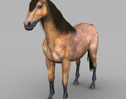 3d asset realtime realistic muscular horse