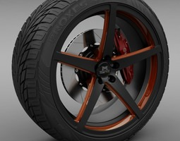 Savini Forged SM-1 Wheel 3D model