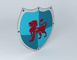 deco plate shield knight houses the world 3d