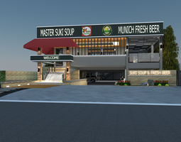 3D model Restaurant and Bar