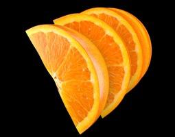 3d orange slice