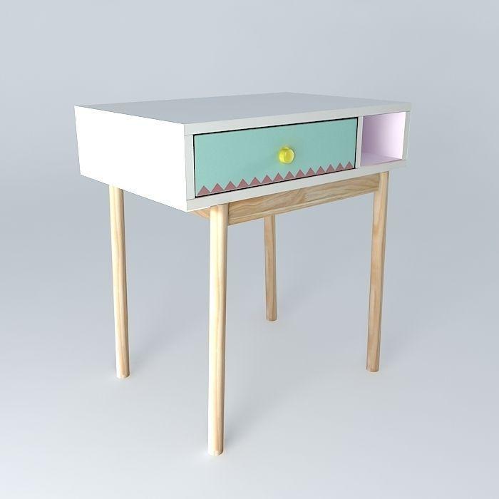 Childrens Desk Berlingot Houses The World 3d Model Max Obj 3ds Fbx Stl Dae 1