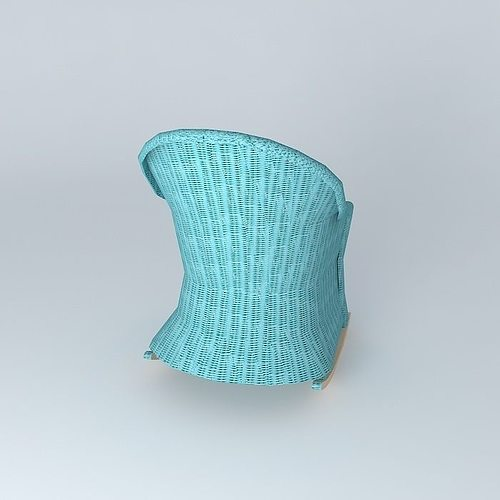 rocking chair blue child ocean maisons du monde 3d model max obj 3ds fbx stl dae. Black Bedroom Furniture Sets. Home Design Ideas