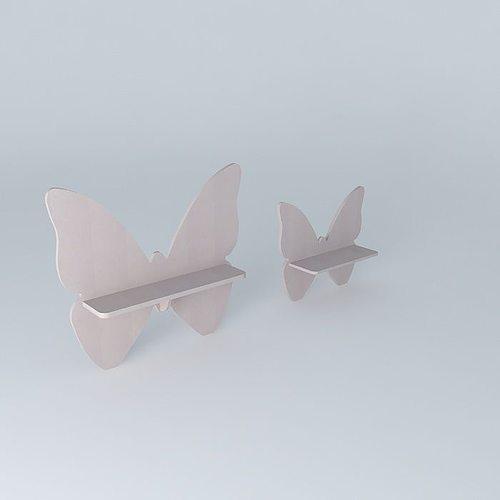 2 shelves butterfly houses the world 3d model max obj mtl 3ds fbx stl dae 1