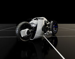 3D model Futuristic Motorcycle Concept