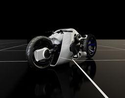 futuristic motorcycle concept 3d model