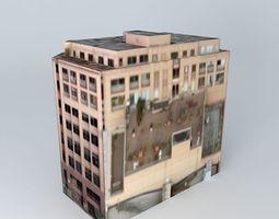 olympic block building in seattle, wa, usa 3d