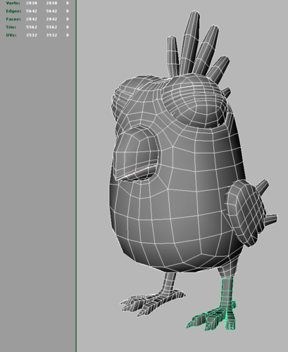 Toon Bird OBJ and Maya format 3D Model MA MB | CGTrader.com