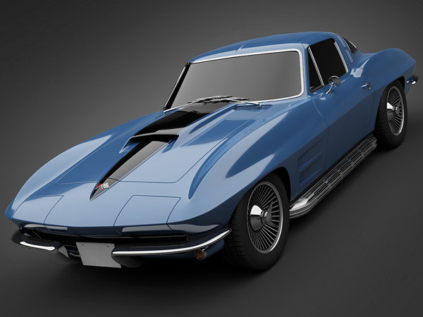 3d Model 1966 Chevrolet Corvette Cgtrader