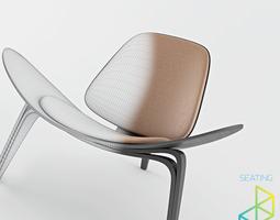 Carl Hansen Son CH07 Shell chair 3D