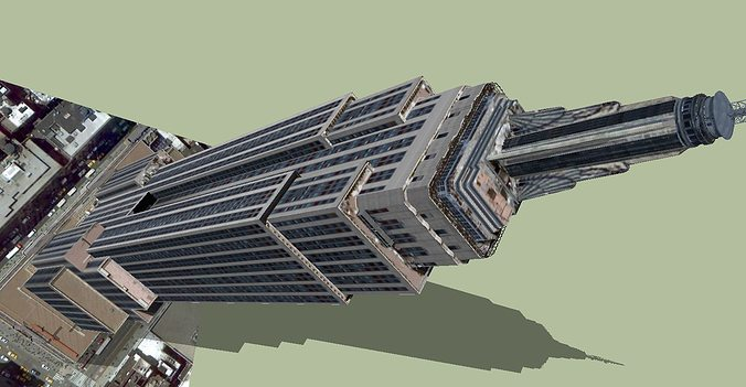 empire state building 3d model dwg skp 1