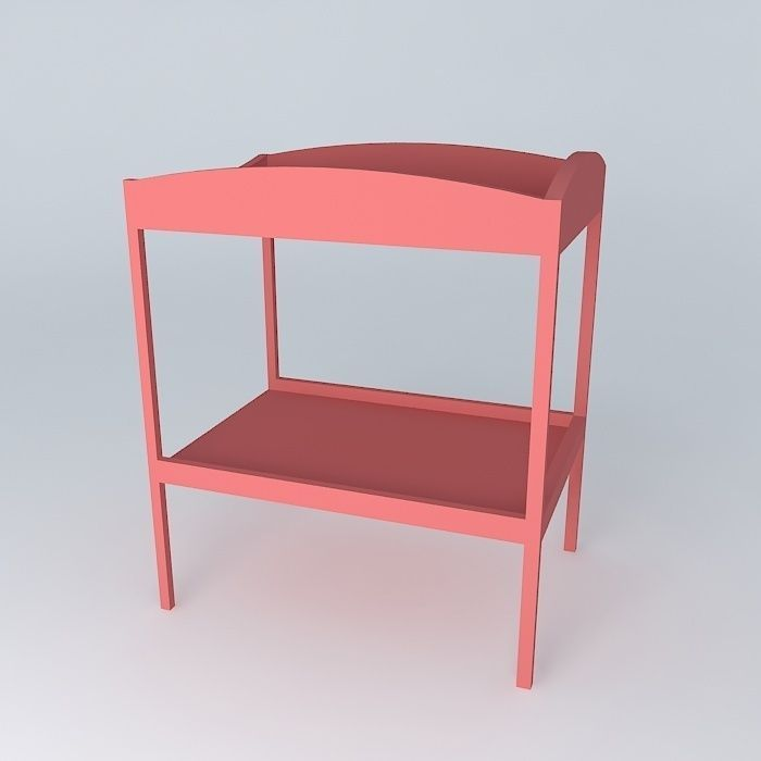 Charmant ... Changing Table Red Coccinelle Houses The World 3d Model Max Obj 3ds Fbx  Stl Dae 2 ...