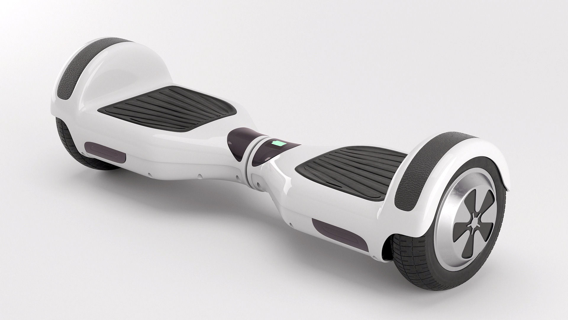 Two Wheel Electric Unicycle Scooter Model Max Obj Mtl Fbx 1