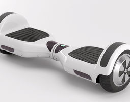 two wheel electric unicycle scooter 3d model max obj fbx