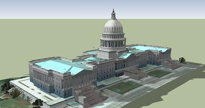 capitol hill the capitol building 3d model skp 1