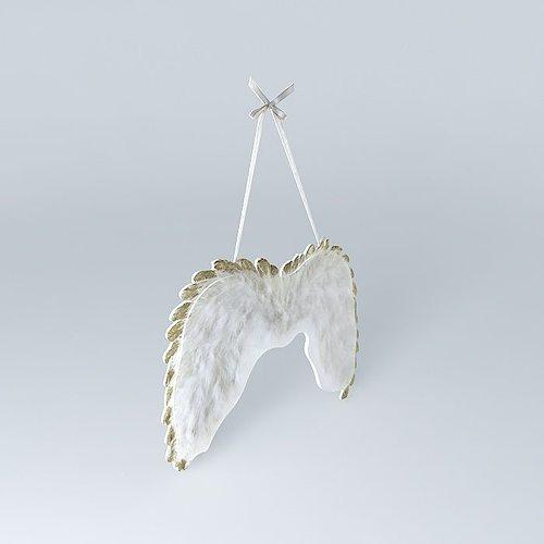 deco angel angel wings houses the world 3d model max obj mtl 3ds fbx stl dae 1