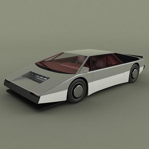 aston martin bulldog concept 3d model   cgtrader