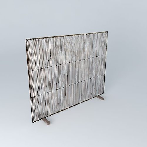 Crate and Barrel Antiqued Brass Fireplace Screen free 3D model MAX ...