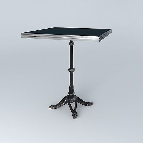 Captivating ... Bistro Table Square Ardamez Company Ral 7016 Grey Anthracite 3d Model  Max Obj 3ds Fbx Stl ...