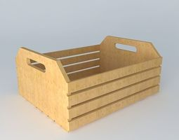 crate, wooden box fruit box 3d