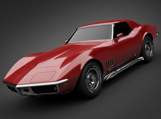 3d Model 1969 Chevrolet Corvette Cgtrader