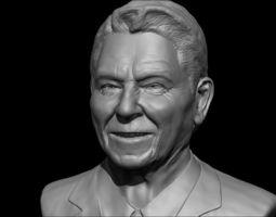 Ronald Reagan bust 3D printable model