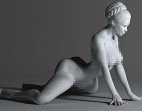 Strong naked woman 3D printable model