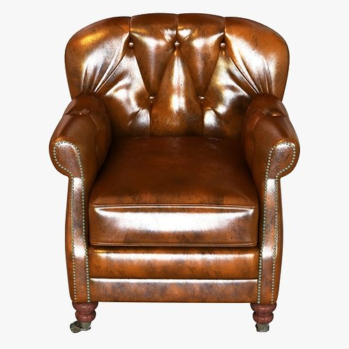 ... Noir Furniture Club Chair Vintage Cigar Leather 3d Model Max Obj 3ds  Fbx Mtl 5 ...