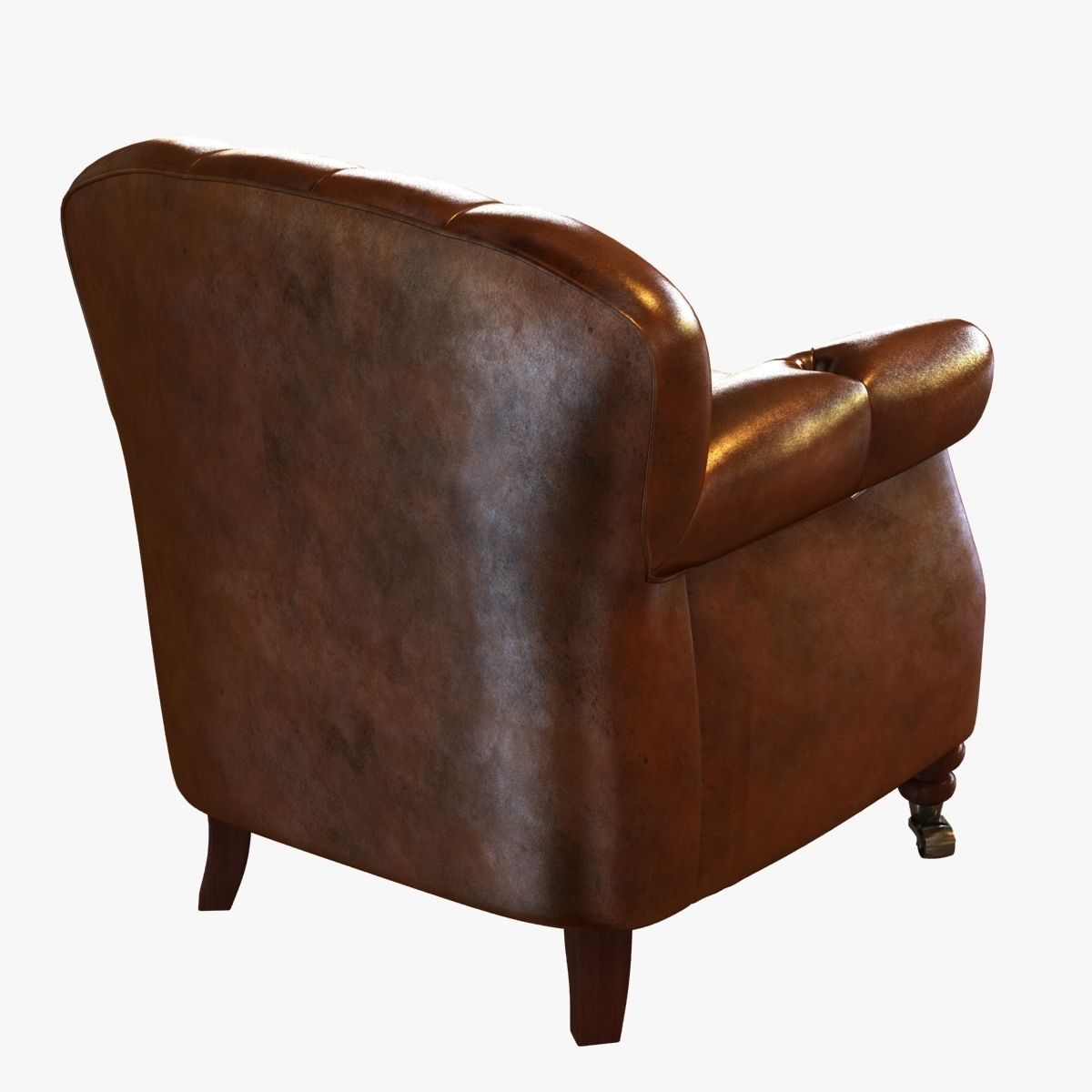 ... Noir Furniture Club Chair Vintage Cigar Leather 3d Model Max Obj 3ds  Fbx Mtl 4 ...