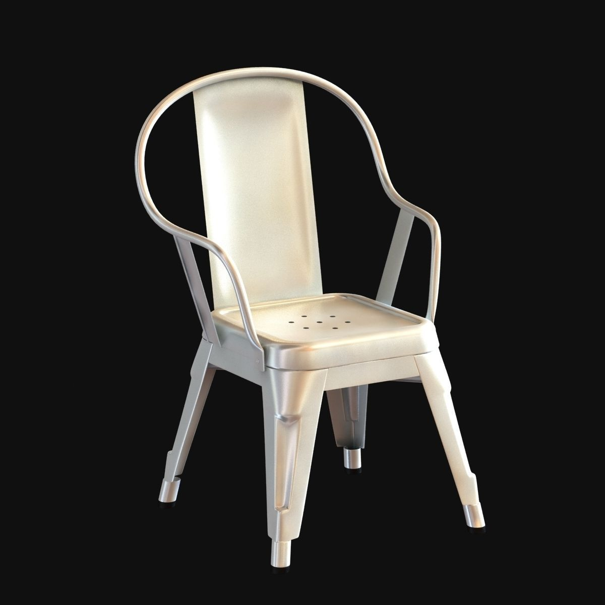 Superieur Xavier Pauchard Marais Chair Galvanized Kids Version 3d Model Max Obj Mtl  3ds Fbx ...