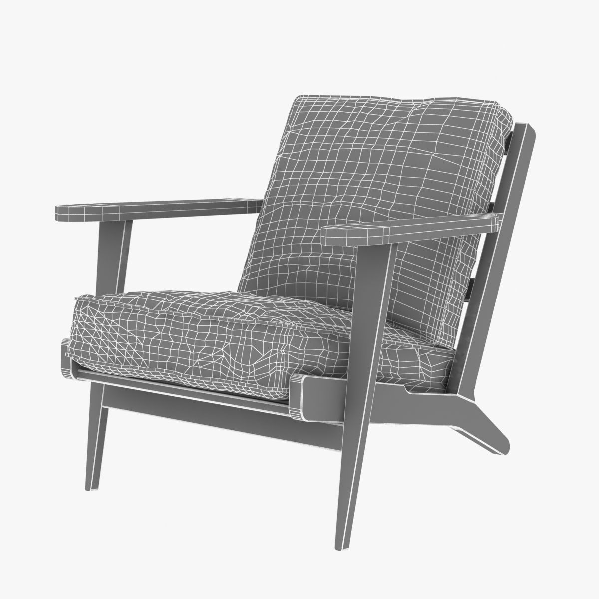 Four Hands Irondale Brooks Lounge Chair In Ebony Black Wash Weat 3d Model Max Obj 3ds