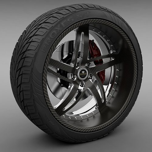 savini forged sv-16 wheel and tire 3d model max obj 3ds lwo lw lws mtl 1
