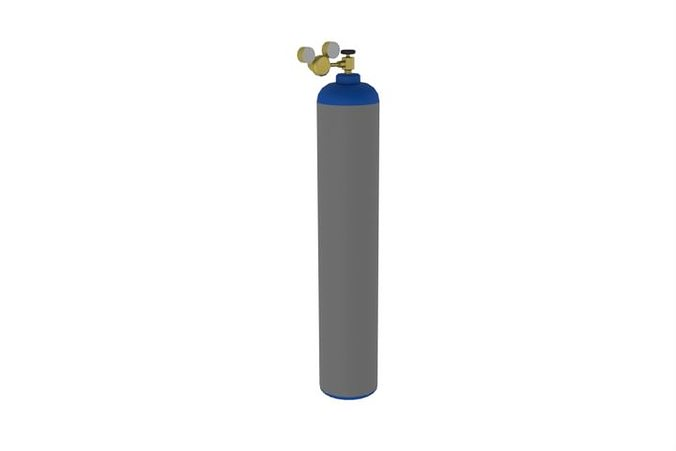 Gas Cylinder Bottle 3d Model Cgtrader