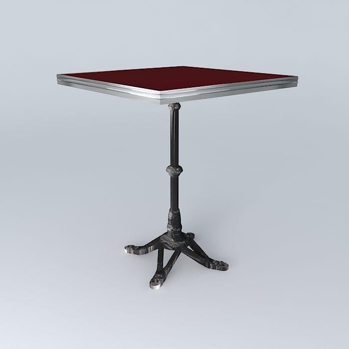 Bistro Table Square Ardamez Company 3d Model