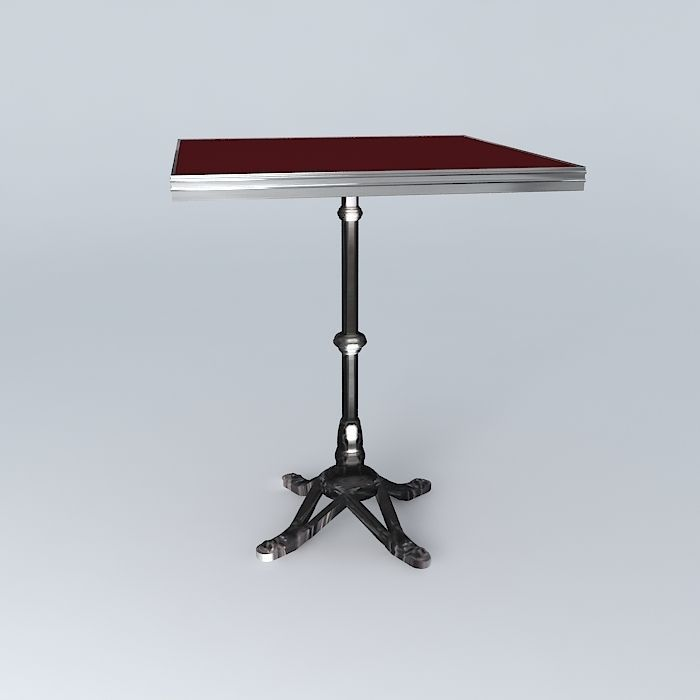 ... Bistro Table Square Ardamez Company 3d Model Max Obj 3ds Fbx Stl Dae 3  ...