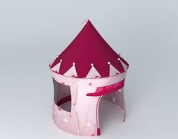 children tent princess castle houses the world 3d model