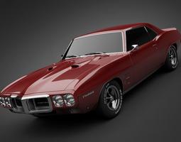 1969 Pontiac Firebird 400 3D Model