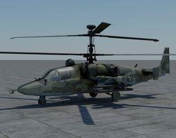 KA-52 Hokum B 3D Model