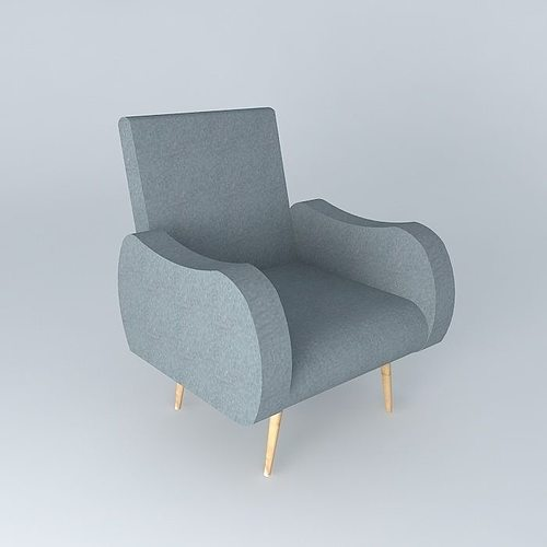 Armchair gray WAVES Maisons du monde 3D | CGTrader