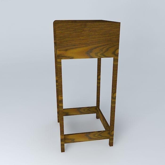 bar stool banqueta de bar free 3d model max obj 3ds fbx. Black Bedroom Furniture Sets. Home Design Ideas
