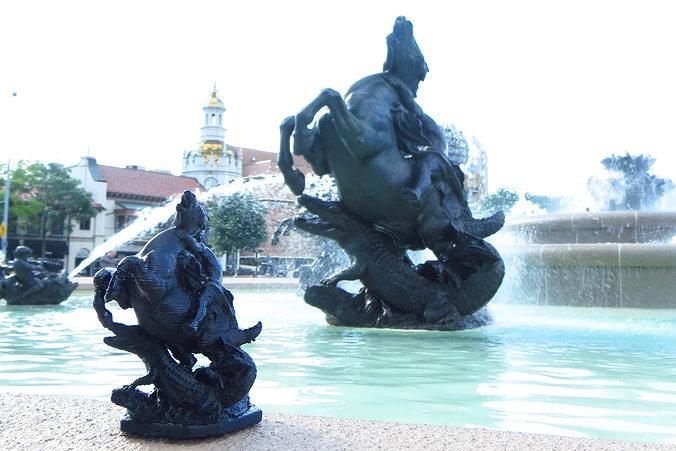 jc nichols memorial fountain sculptures 3d model obj mtl stl 1