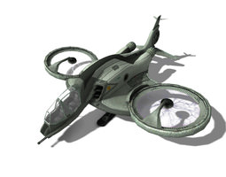 3d asset sci-fi airplane mosquito game-ready