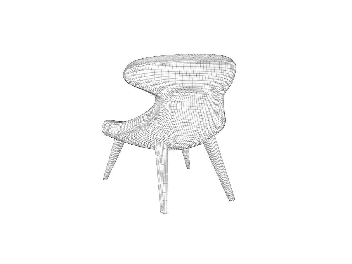 Andrew Martin Gund Chair Union Jack Denim 3D Model MAX OBJ