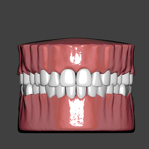 mouth 3d model rigged animated blend 1