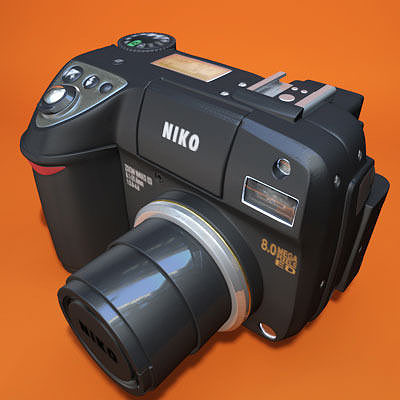 nikon coolpix 8400 3d model obj 3ds fbx c4d 1