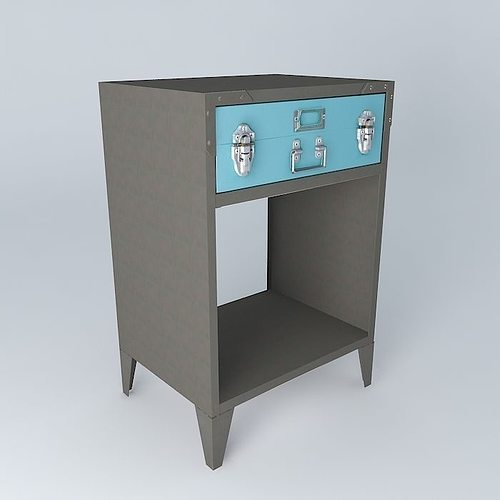 space undue gray bedside houses the world 3d model max obj 3ds fbx stl dae 1