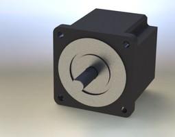 3d model nema steper motor-short frame