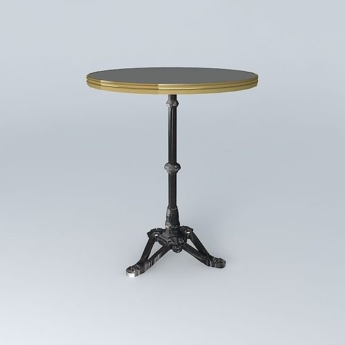 Bistro table ronde ardamez society 3d model max obj 3ds - Table ronde 4 personnes ...
