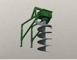 Ground Drill 3D model