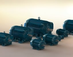 weg electric motors 3d model